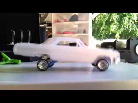 1964 Impala SS model car hopper in slow motion