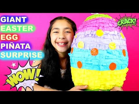 Giant Easter Surprise Egg Piñata Mickey Mouse Minions Minecraft  Shopkins Spongebob Sofia