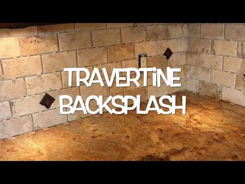 Travertine Tile Backsplash Installation: Matlock Construction
