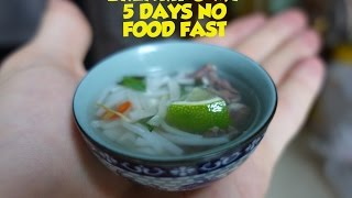 Making a tiny bowl of Pho to end my 5 day no food fast.