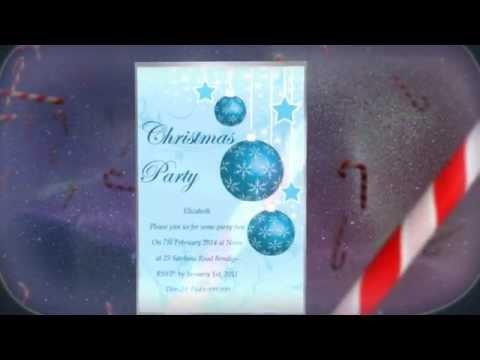 Festive Christmas Party Invitations