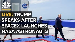 WATCH LIVE: President Trump speaks after SpaceX historic manned NASA flight — 5/30/2020