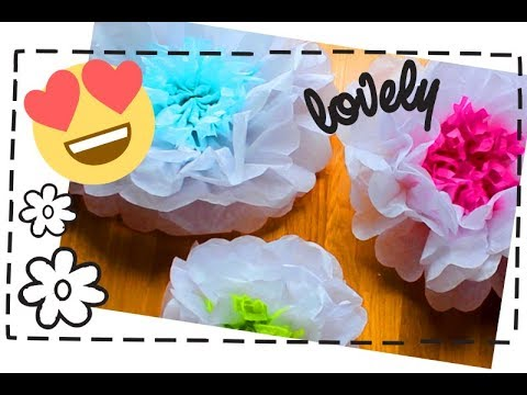[DIY] How to Make GIANT Tissue Paper Flowers! 🌼 🌸