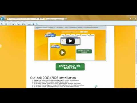 emailStationery Toolbar for Outlook 2003-2007 Installation Instructions