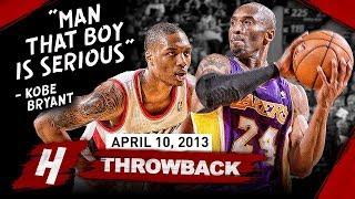 The Game Rookie Damian Lillard SHOCKED Kobe Bryant 2013.04.10 - EPIC Duel Highlights!