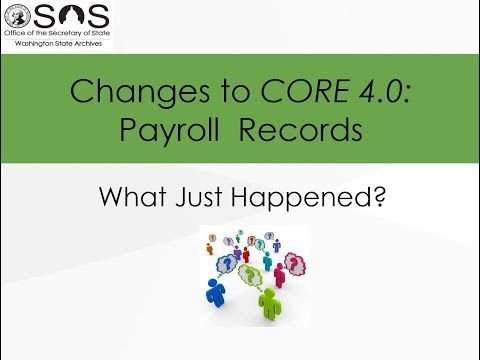 Changes to CORE v.4.0: Payroll Records