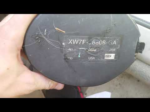How to take of lincoln ls door panel and replace speaker