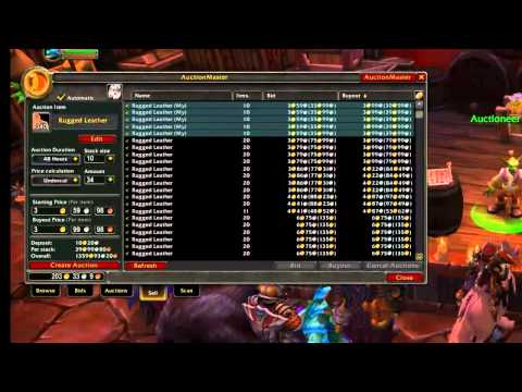 World Of Warcraft For Noobs ( Flipping the auction house ) Making Lots of Gold