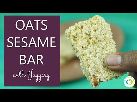 Oats Sesame Bar with Jaggery