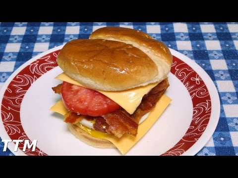 How to Make a Bacon, Egg and Tomato Sandwich with Cheese in the Toaster Oven