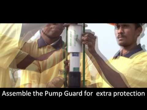 Installation of Submersible Bore well pump