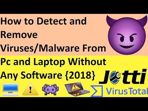 How to Detect and Remove Viruses/Malware From Pc and Laptop Without Any Software 2018
