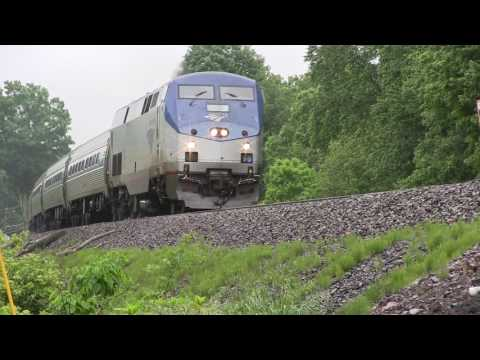Rainy Day in Berlin, CT with Amtrak Train 55