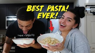 HOW TO MAKE THE BEST PASTA EVER! (BETTER THAN OLIVE GARDEN!) | KB & KARLA