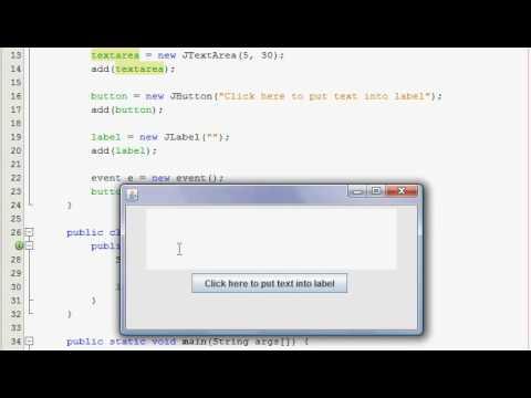 Java GUI Tutorial 28 - JTextArea