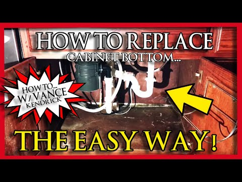 How to replace rotten sink base cabinet bottom. The Easy Way. Mold & water damage