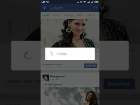 How to share a post into a Facebook group  from mobile