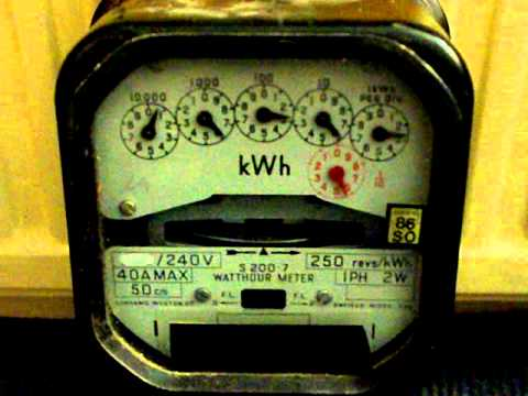 Electricity Meter : Accuracy Test, Sangamo Weston S200.7