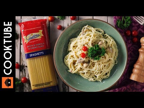 Creamy Mushroom & Parsley Spaghetti Recipe   Easy Italian Spaghetti Recipe