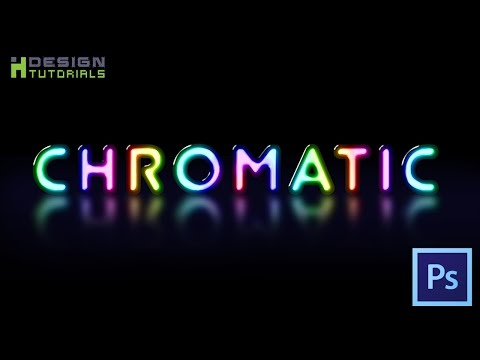 Create chromatic text effect in photoshop
