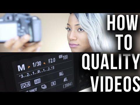 How to Get Better Quality Youtube Videos Beginner (Camera Settings/Lighting) | Annesha Adams