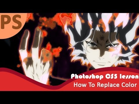 Photoshop CS5 Tutorial  (how to replace color)