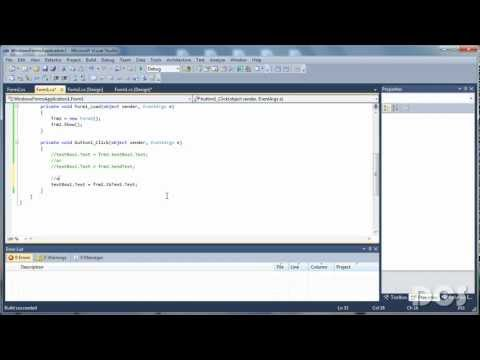 C# - Get value from another Form
