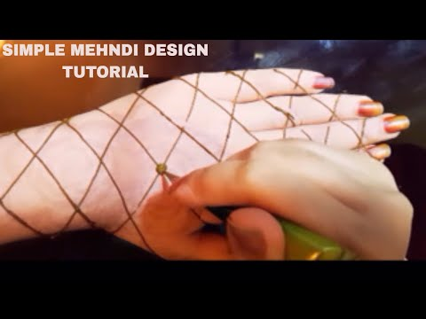 SIMPLE & EASY TO MAKE MEHNDI DESIGN || AWESOME MEHNDI DESIGN || LOOKS CUTE AFTER APPLICATION.