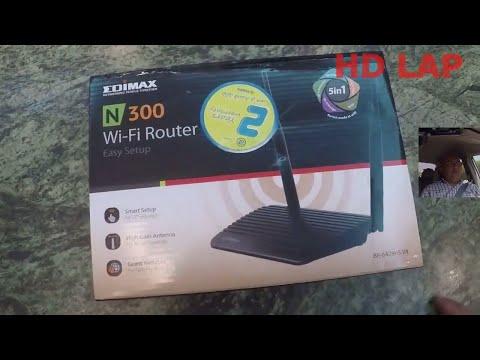 مراجعة  ايديماكس واي فاي راوتر وضبط اعداداته - EDIMAX N300 WIFI ROUTER br-6428NS V4 REVIEW - SETUP