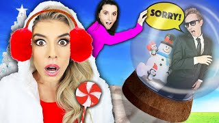 GIANT SNOW GLOBE PRANK ON BEST FRIEND CRUSH! (24 Hour Challenge on Roof) Rebecca Zamolo