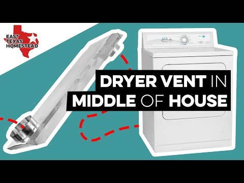 Installing Dryer Vent in Middle of House | DIY Mobile Home Restoration | #EastTXHomestead
