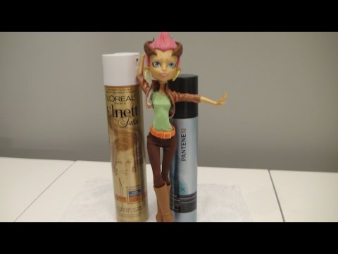 How to re-gel your Monster High Doll's hair