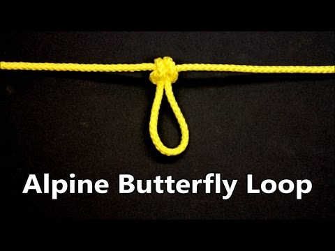 Alpine Butterfly Loop | Lineman's loop | Climbing Knots | Encyclopedia of popular knots