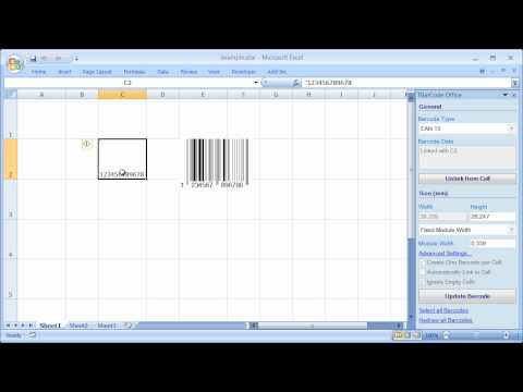 Barcode Add-In for Microsoft Excel (All Versions)
