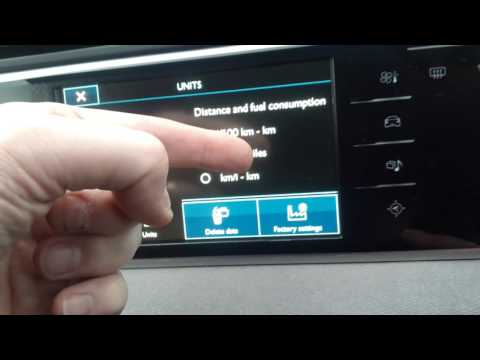 Citroen C4 Picasso/Grand C4 Picasso: How to change Speedo from miles/mph to km/kph & back