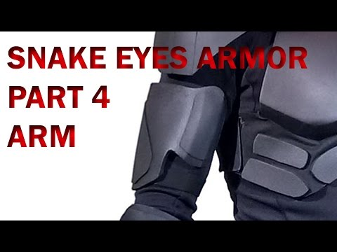 Snake Eyes GI Joe Retaliation How To DIY Part 4 Foam Armor - Upper Arm Fabrication