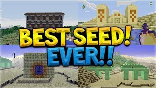 Woodland Mansion, Guardian Temple & Above Ground End Portal AT SPAWN SEED!