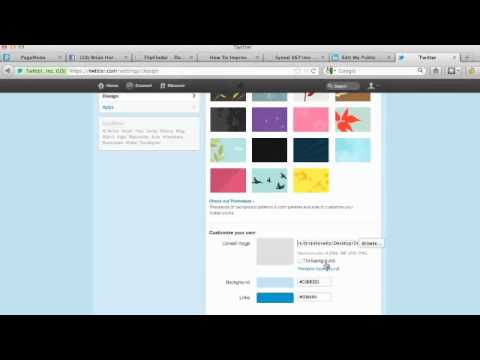 Change Twitter Background: How To Upload Custom Twitter Background Image