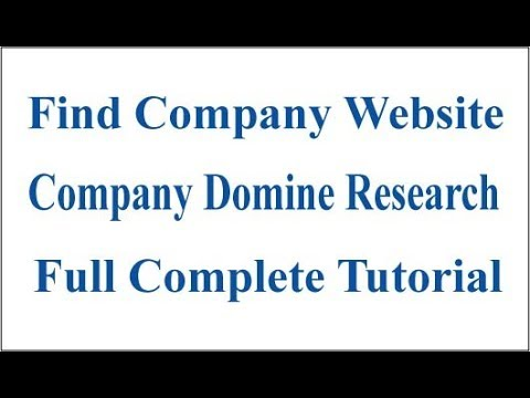 how to find company domain name full complete tutorial 2015 [ fast ]