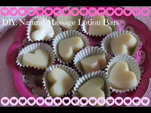 DIY Chocolate Natural Massage Lotion Bars for Dry Skin, How to Make LUSH Inspired Body Butters