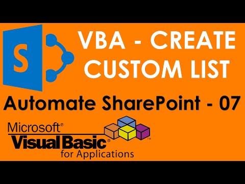 S01E03-VBA to create SharePoint List or table on Runtime