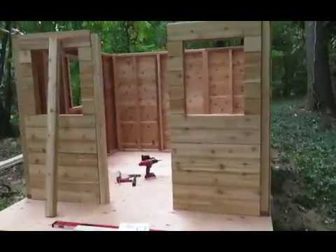 Cozy Cabin Playhouse Kit Build - Outdoor Living Today