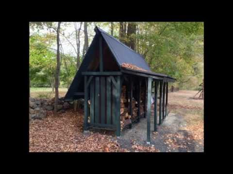 Awesome Firewood Storage Shed - Time Lapse