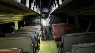 VISITING A HAUNTED TRAIN AT NIGHT!