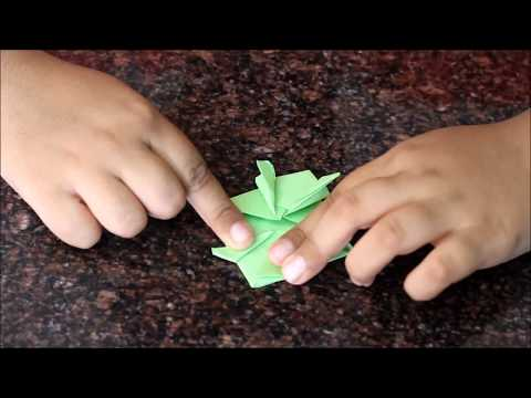 DIY  -  Making a jumping paper frog