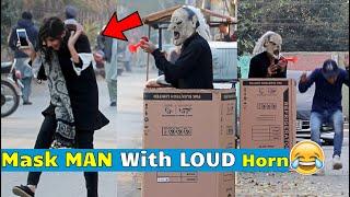 Mask Man With Loud Air Horn Prank - Pranks in Pakistan - LahoriFied