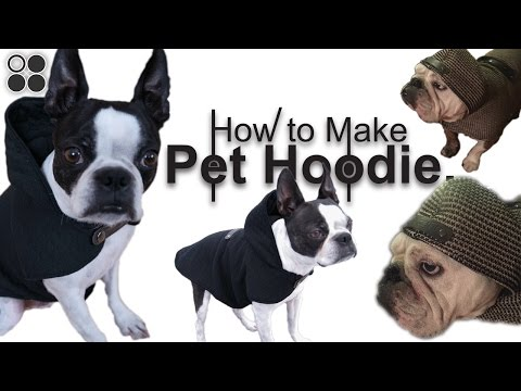 Easy DIY! Sew From Scratch - Pet Hoodie!