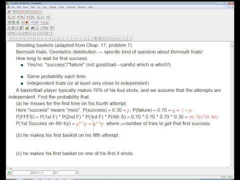 Geometric distribution example