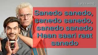 Sanedomade In China Lyrics Video Ramkumar Rao