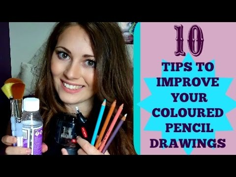 10 Tips To Improve Your Coloured Pencil Drawings/ Make Them More Realistic